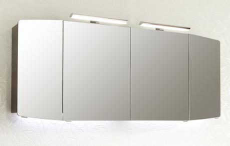 Spiegelschrank inkl. 2 LED-Aufsatzleuchten, Steckdose INNEN, 160cm