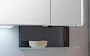 Winkelablage für Spiegelschrank u Spiegelpaneel inkl. Aufhänger, 45 cm