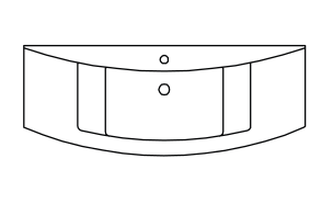 Minrealmarmor-Waschtisch, 122 cm