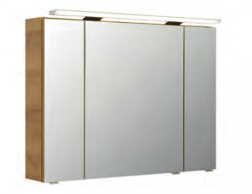 Spiegelschrank inkl. LED-Aufsatzleuchte, 115 cm, Steckdose/Schalter INNEN