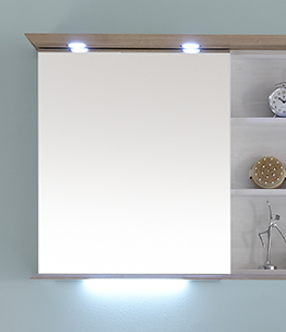 Spiegelschrank mit Regal, 65 cm