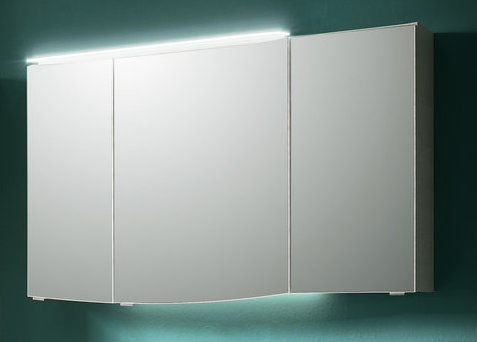 Spiegelschrank, optional mit Aufsatzleuchte, 3 Türen, 120 cm
