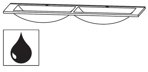 Doppel-Glaswaschtisch Quarzitgrau, 120 cm