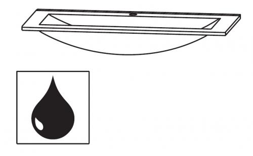 Glaswaschtisch Optiwhite, 90 cm