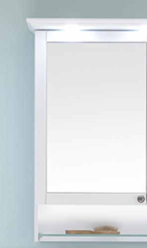 Spiegelschrank mit beleuchteten offenen Fach, 65 cm