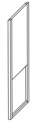 2.00 x Gestellfuß schwarz für Waschtischunterschränke, 2 cm