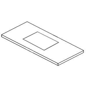 Puris Waschtischplattenausschnitt Keramik-Aufsatzwaschtisch Squared, 50 cm