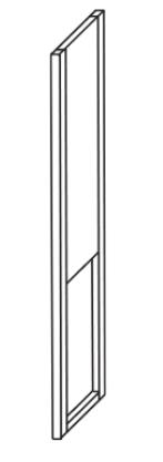 2.00 x Gestellfüße für Unterschränke, 2 cm