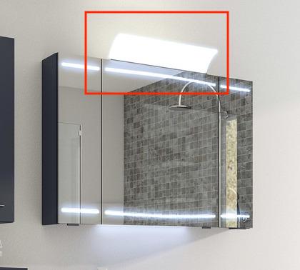 Aufsatzleuchte für Spiegelschrank, Chrom Glanz, 12V LED, LM LED, 50 cm