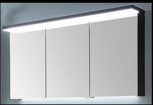 Spiegelschrank mit LED-Flächenleuchte im Kranz, 120 cm