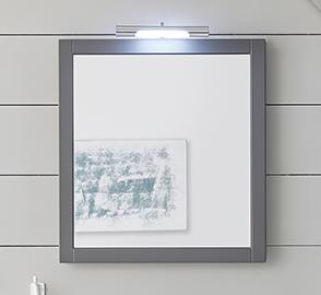 Flächenspiegel mit Aufsatzleuchte, 65 cm