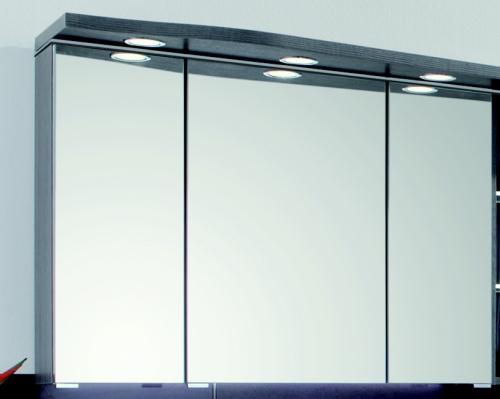 Spiegelschrank-Set, geschwungene Ausführung rechts, 90 cm