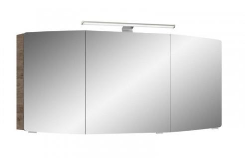 Spiegelschrank inkl. Aufsatzleuchte, 142 cm