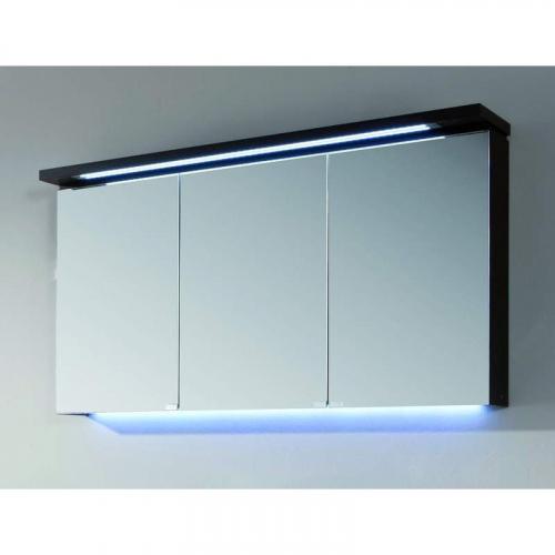Spiegelschrank mit LED-Streifen im Kranz, 120 cm