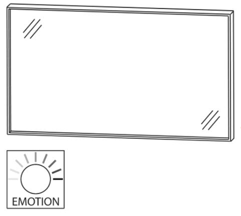 Flächenspiegel, Alurahmen in Schwarz matt, 120 cm