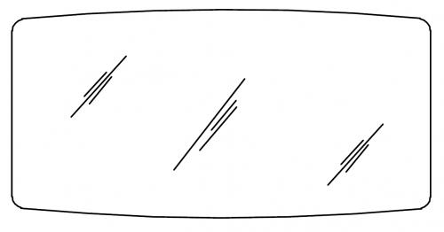 Flächenspiegel auf Trägerplatte, 140 cm
