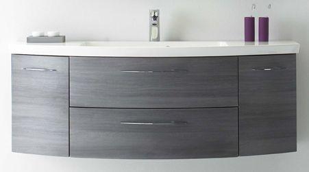 Waschtischunterschrank, 2 Auszüge, 2 Türen, 140 cm