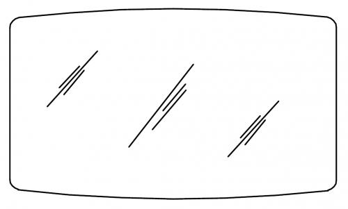 Flächenspiegel auf Trägerplatte, 120 cm