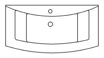 Mineralmarmor-Waschtisch, 92,4 cm