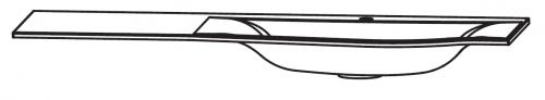 Mineralguss Waschtisch, evermite, Ablage links, 140 cm