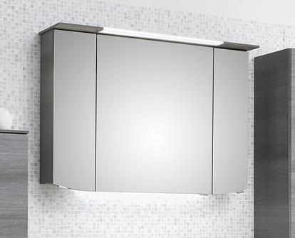 Spiegelschrank inkl. LED-Beleuchtung im Kranz, 100 cm, 6 Watt