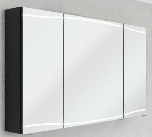 Spiegelschrank inkl. LED-Streifen in den Türen, 120 cm