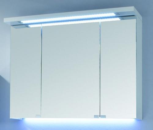 Spiegelschrank mit LED-Streifen im Kranz, 90 cm