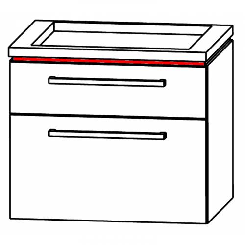 Waschtischunterschrank für Keramikwaschtisch, ausgefräst, 60 cm