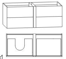 Waschtischunterschrank für Einzelwaschtisch-Lösung, Ablage rechts, Push to open, 126 cm