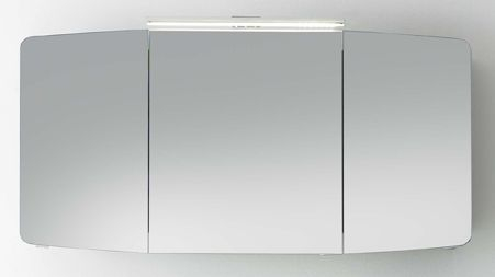Spiegelschrank inkl. LED-Aufsatzleuchte, 120 cm, Steckdose INNEN