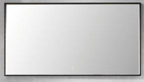 Flächenspiegel, Alurahmen in weiß matt, 120 cm