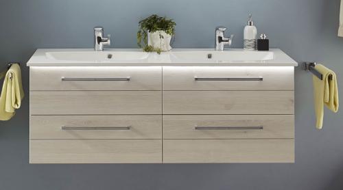 Doppel-Waschtischunterschrank, 130 cm