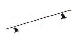Aufsatzleuchte in schwarz Matt, 12V LED, 360LM LED, 90cm